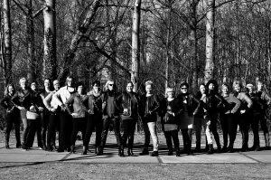 Groepsfoto van het koor